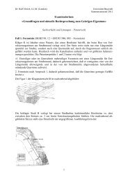 Lösungen der patentrechtlichen Fälle - Ralf Uhrich
