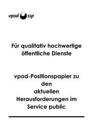 Für qualitativ hochwertige öffentliche Dienste vpod ... - vpod Bern