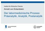 Der labormedizinische Prozess - Institut für Klinische Chemie