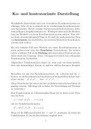 Ko- und kontravariante Darstellung