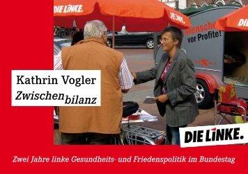 und Friedenspolitik im Bundestag Zwischenbilanz - Kathrin Vogler