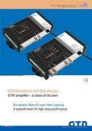 GTN amplifier - a class of its own GTN-Verstärker ... - GTN Germany