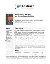 Zusammenfassung von getabstract - Heri, Prof. Dr. Erwin W.