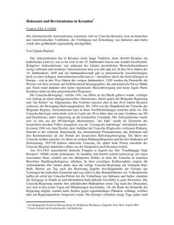 Holocaust und Revisionismus in Kroatien