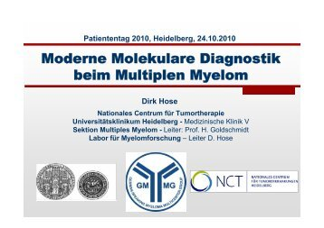 Moderne Molekulare Diagnostik beim Multiplen Myelom