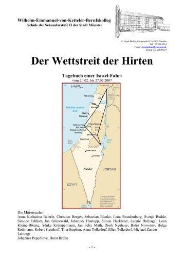 Der Wettstreit der Hirten Tagebuch einer Israel-Fahrt - Nrwisrael.de