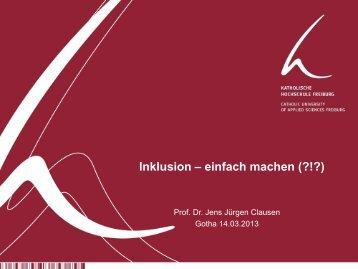 Prof. Dr. Jens Jürgen Clausen Inklusion - Bundesverband ...