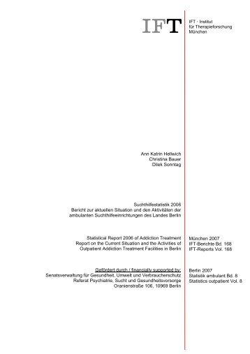 IFT-Berichte Bd. 168