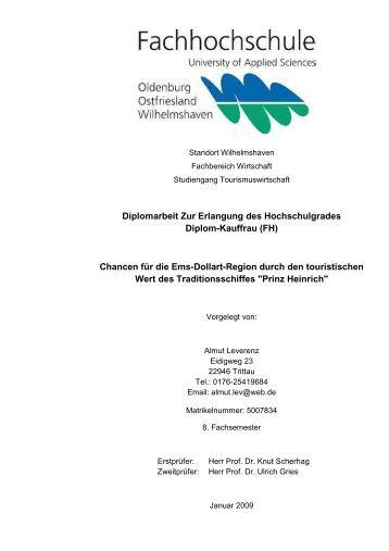 Diplomarbeit Zur Erlangung des Hochschulgrades ... - Prinz Heinrich