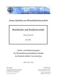 Betriebsräte und Strukturwandel - WiWi Fakultät - Friedrich-Schiller ...