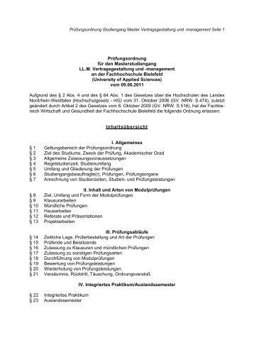 Prüfungsordnung für den Masterstudiengang LL.M ...