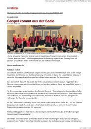 Bericht WR - The Singing Souls