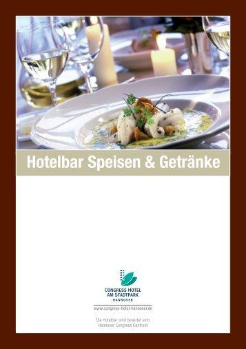 Hotelbar Speisen & Getränke - Congress Hotel am Stadtpark