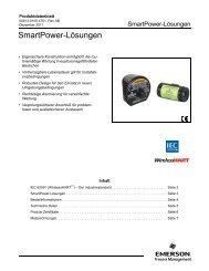 SmartPower-Lösungen - Emerson Process Management