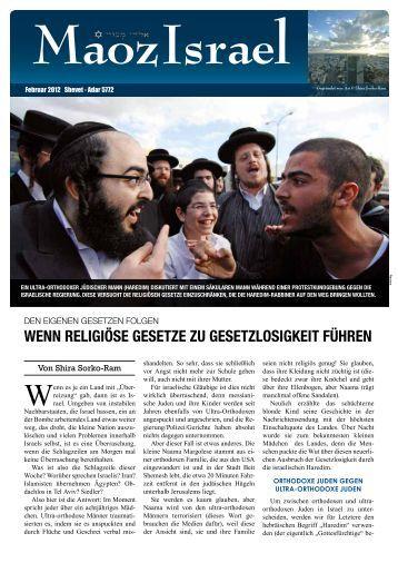 wenn religiöse gesetze zu gesetzlosigkeit führen - Maoz Israel