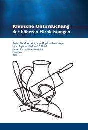 Klinische Untersuchung der höheren Hirnleistungen - Ludwig ...