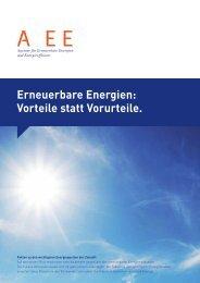 Erneuerbare Energien: Vorteile statt Vorurteile. - Minergie