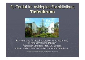 PJ-Tertial im Asklepios-Fachklinikum Tiefenbrunn