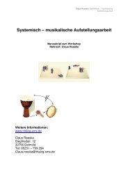 Systemisch – musikalische Aufstellungsarbeit - trialog-sms.de