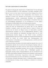 """Das Projekt """"Sprachvariation in Norddeutschland"""" Das geplante ..."""