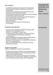 Grobzustandskontrolle und Sicherung innen - Berner Münster-Stiftung