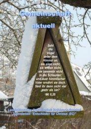 Gemeinschaft aktuell Q1/2013 - Landeskirchliche Gemeinschaft ...