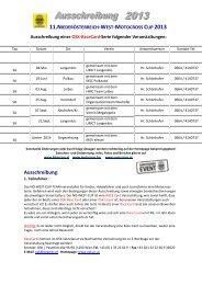 Gesamte Ausschreibung als PDF-Download - hier ... - NÖ-West-Cup