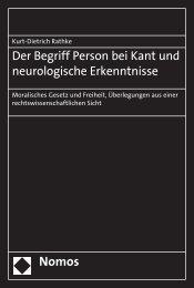 Der Begriff Person bei Kant und neurologische Erkenntnisse
