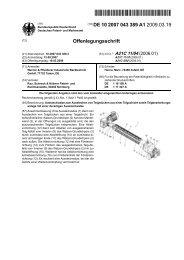 Ausstechwalze zum Ausstechen von Teigstücken aus ... - Patente