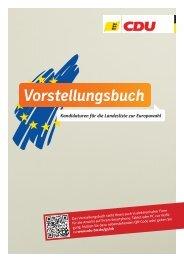 Vorstellungsbuch Europawahl - CDU Baden-Württemberg