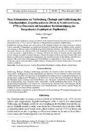 Neue Erkenntnisse zur Verbreitung, Ökologie und Gefahrdung des ...