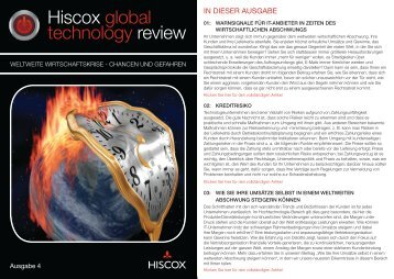 gehts zum Hiscox Global Technologie Newsletter. - KuV24