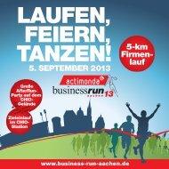 Download Teilnehmerbroschüre - BusinessRun Aachen