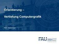Orientierung – Vertiefung Computergrafik - Informatik