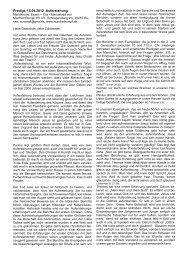 Predigt, 15.04.2012 Auferstehung - Manfred Rompf
