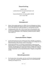 Gesamtvertrag IKK - Kassenzahnärztliche Vereinigung Berlin