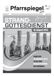August 2013 - katholischen Kirchengemeinde Stralsund