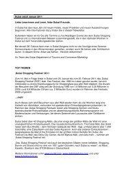 Dubai jetzt! - Januar 2011 PDF - Dubai-tourism.de