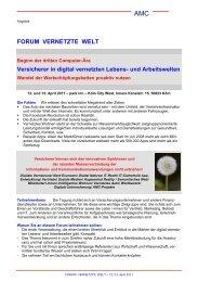 FORUM VERNETZTE WELT - AMC-Forum