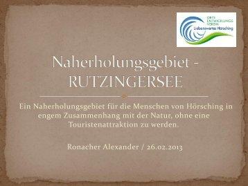 Download Masterplan - Anhang 2: Konzept Rutzinger See - Hörsching