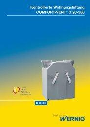 Kontrollierte Wohnungslüftung COMFORT-VENT® G 90-380