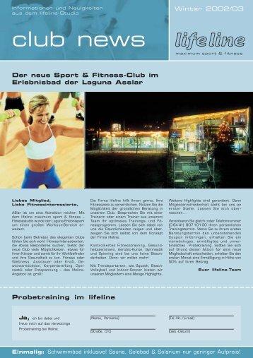 club news Winter 2002/03 - lifeline