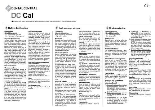 contraindicaciones del hidroxido de calcio