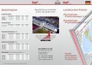 Landkarten-Poster Aluminium- Profilrahmen AWR Aluminium ...