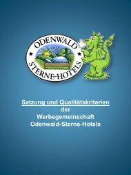 Satzung und Qualitätskriterien - Odenwald-Sterne-Hotels