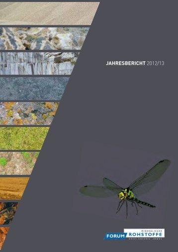 JAHRESBERICHT 2012/13 - Forum Rohstoffe