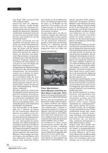 Rezension - Nach Albanien, Karl! Eine andere Reise in das Jahr 1914