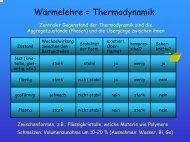 Wärmelehre = Thermodynamik