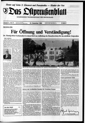 Folge 53 vom 31.12.1988 - Archiv Preussische Allgemeine Zeitung