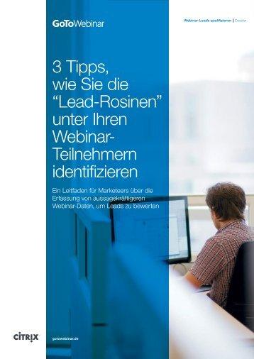 """3 Tipps, wie Sie die """"Lead-Rosinen"""" unter Ihren Webinar ... - Netviewer"""